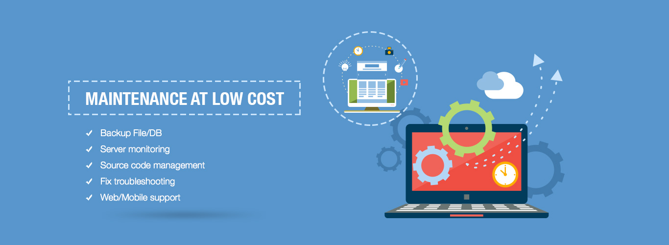 MAINTENANCE AT LOW COST in Techacademy Software
